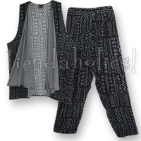 <STRIKE>TRIBAL PRINT PANT SET</STRIKE> <B>SOLD</B>