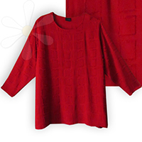 LULA DAY TUNIC NEW STYLE/FABRIC! <BR>(RUBY HALFA WEAVE)