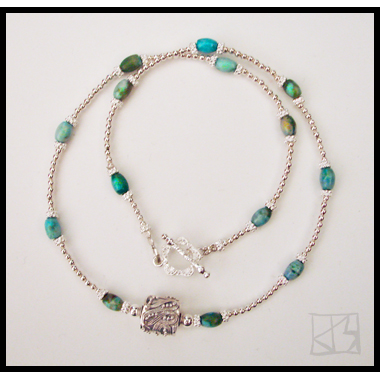 DELICATE CHRYSOCOLLA SILVER NECKLACE