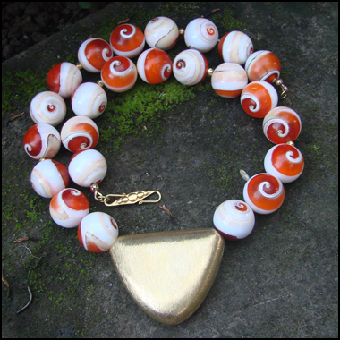 SHIVA'S EYE BEADED NECKLACE